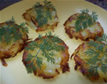 Potato rosti with dill