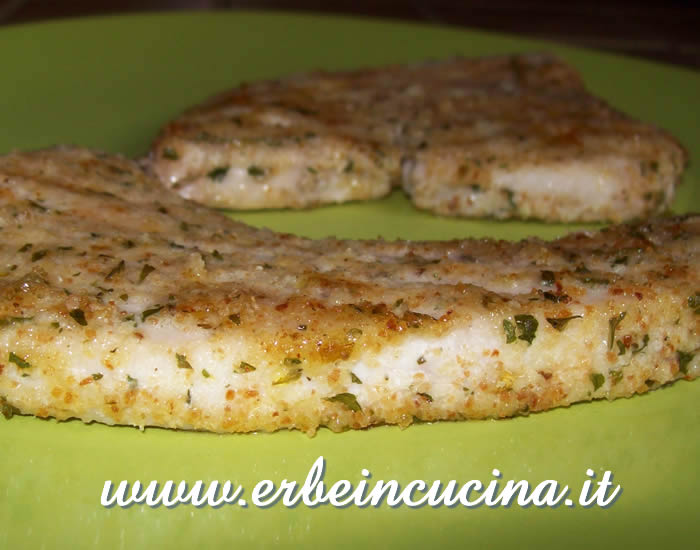 Grilled sword fish with herbs