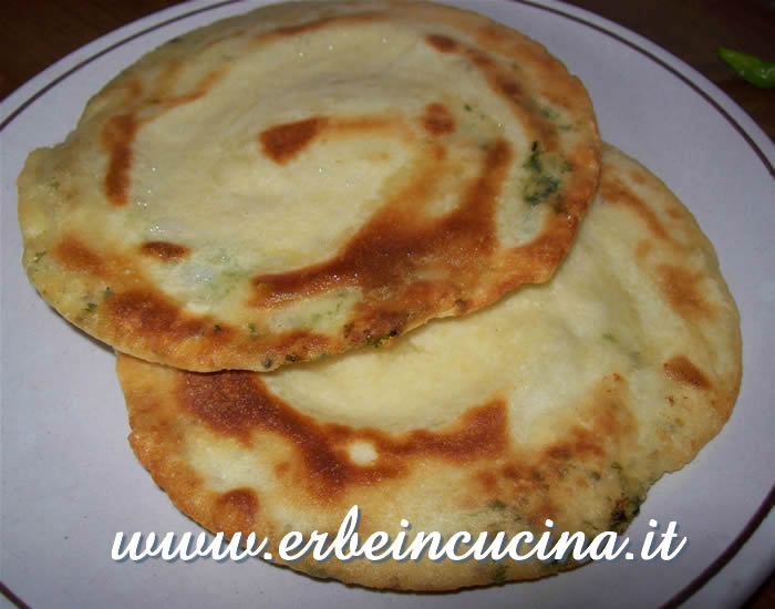 Indian parota with coriander and mint