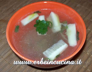 Chinese soup with ginger and coriander