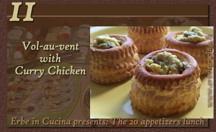 Vol-au-vent with chicken curry