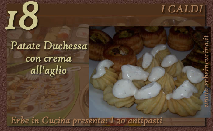 Patate Duchessa con crema all aglio