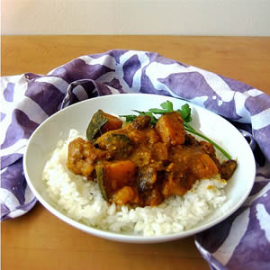 Spicy Pork with Cinnamon, Winter Squash, and Raisins