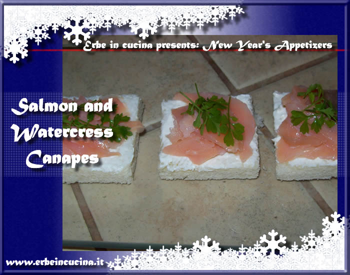 Salmon and cress canapes