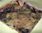 Mushroom quiche with pennyroyal
