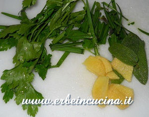 Ginger and aromatic herbs