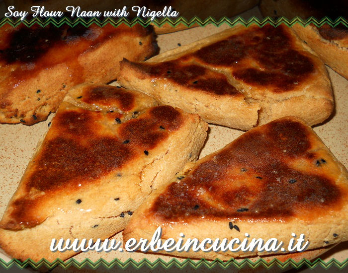Soy flour naan with nigella
