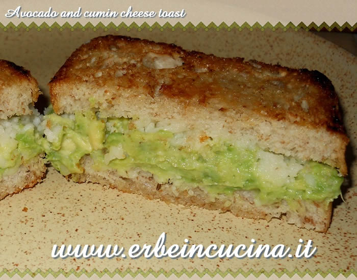 Avocado and cumin cheese toast