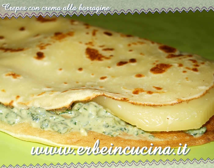 Crepes con crema alla borragine
