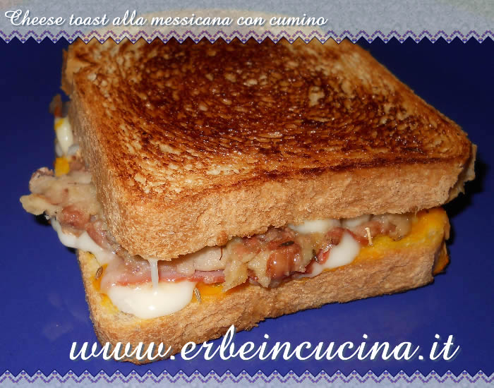 Cheese toast alla messicana con cumino